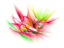 Ligne abstraite mouvement de différentes couleurs, col d'abstraction de courbes Photos stock