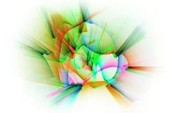 Ligne abstraite mouvement de différentes couleurs, col d'abstraction de courbes Images libres de droits