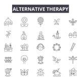 Ligne alternative icônes de thérapie pour le Web et la conception mobile Signes Editable de course Concept alternatif d'ensemble  illustration libre de droits
