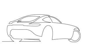 Ligne animation de dessin d'individu de voiture de sport élégante de concept clips vidéos