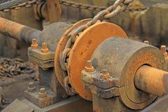 Ligne arrière de production industrielle Images stock