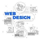Ligne Art Design Concept Image stock