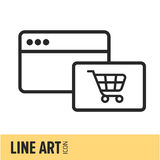 Ligne Art Icon Photo libre de droits
