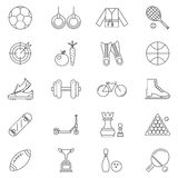 Ligne Art Icons Set Vector Illustration de sport Photo libre de droits