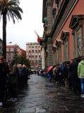 Ligne au musée archéologique de Naples Photo libre de droits