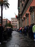 Ligne au musée archéologique de Naples Photographie stock libre de droits