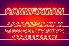 Ligne au néon police de la connexion une illustration stock