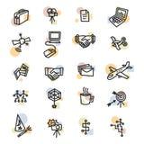Ligne audacieuse icônes des affaires une illustration de vecteur