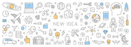 Ligne bannière de vecteur pour la nouvelle idée Image stock