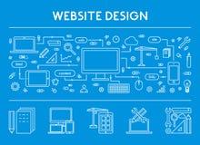 Ligne bannière horizontale de concept pour le web design Photo libre de droits