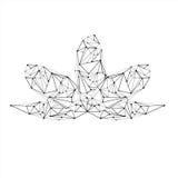 Ligne bas poly lotus Photo stock