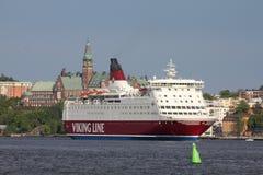 Ligne bateau de Viking de bac Images libres de droits