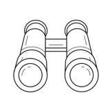 Ligne binoculaire icône d'explorateur illustration stock