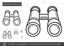 Ligne binoculaire icône d'explorateur illustration libre de droits