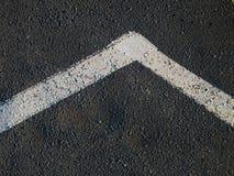 ligne blanc d'asphalte Image libre de droits