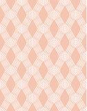Ligne blanche abstraite modèle sans couture sur le rose illustration stock