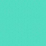 Ligne blanche abstraite modèle sur le fond bleu illustration de vecteur
