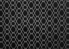 Ligne blanche abstraite sur le papier peint noir de fond illustration libre de droits