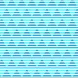 Ligne blanche avec le backgr en pastel bleu bleu de modèle rayé de triangle Photo libre de droits