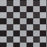 Ligne blanche et ligne pointillée blanche image vérifiée grise d'illustration de vecteur de fond de noir de modèle illustration libre de droits