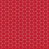 Ligne blanche rouge modèle sans couture de vecteur de forme de brique d'hexagone Photos stock