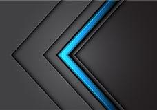 Ligne bleue abstraite de flèche chevauchement gris-clair de direction en métal avec futuriste de luxe moderne de conception foncé illustration de vecteur