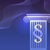 Ligne bleue de cour d'icônes de fond juridique de loi Photos libres de droits