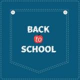 Ligne bleue de tiret de poche de jeans de denim De nouveau à l'école illustration libre de droits