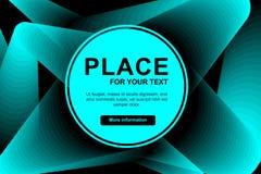Ligne bleue fond de mélange de résumé Modèle à la mode abstrait pour la conception d'affiche Placez pour votre texte dans le cerc illustration libre de droits
