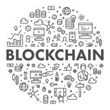 Ligne blockchain de vecteur de concept de Web Photos stock