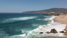Ligne côte de plage Photographie stock