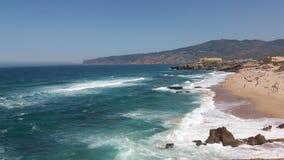 Ligne côte de plage Images stock