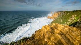 Ligne cabo DA Roca de falaise Image libre de droits