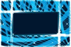 Ligne carte de bannière de cadre de rectangle Images libres de droits