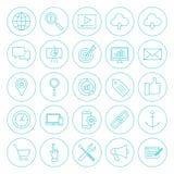 Ligne cercle SEO Icons Image stock