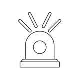 Ligne chaude d'alerte de secours de sirène illustration de vecteur