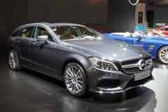Ligne classe CLS de la salle CLS 220 d AMG de Mercedes-Benz Photos libres de droits