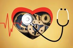Ligne coeur de battement de coeur cardio- Photo libre de droits