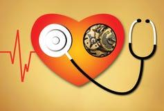 Ligne coeur de battement de coeur cardio- Photos stock