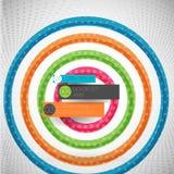 Ligne colorée abstraite de vague Photographie stock libre de droits