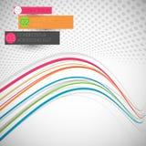 Ligne colorée abstraite de vague Photographie stock