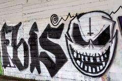 Ligne colorée d'art de graffiti les murs de rue Photographie stock