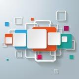 Ligne colorée de conception de places de rectangles Photographie stock libre de droits
