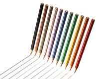 Ligne colorée de dessin au crayon Photo libre de droits
