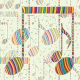 Ligne colorée modèle sans couture de note de musique illustration de vecteur