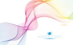 Ligne colorée illustration abstraite lumineuse d'ondes lumineuses de modèle Photo libre de droits