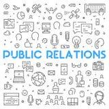 Ligne concept de Web pour des relations publiques Photographie stock