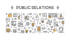 Ligne concept de Web pour des relations publiques Photo stock