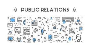 Ligne concept de Web pour des relations publiques Image stock