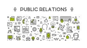 Ligne concept de Web pour des relations publiques Images libres de droits
